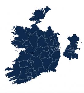 Okręgi wyborcze w Irlandii